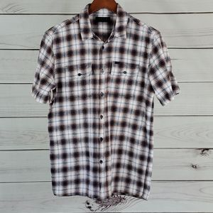 KR3W•m shirt flannel plaid short sleeve